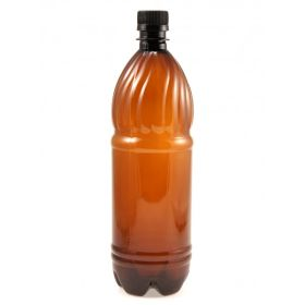 Бутылка ПЭТ 1л с крышкой Россия (х100) Коричневая