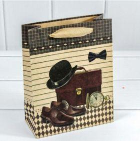 Пакет подарочный Крафт Мужской набор