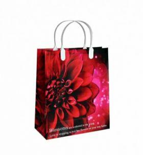 Подарочные пакеты 26х23+10 (х20)из мягкого пластика Женс. Микс