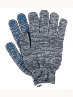 Перчатки ХБ с ПВХ серые 5- нитей